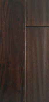 """4.75"""" Solid Dark Ebony Hardwood Flooring in Brown and Black"""