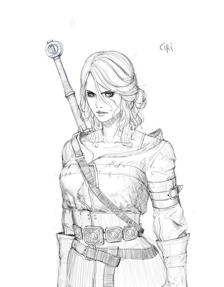 Witcher 3, Ciri by Hyunwook Chun