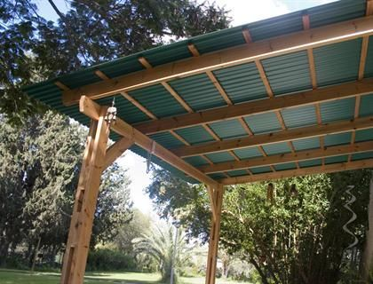 How To Build Sun Shelter With Polycarbonate Roof Attached