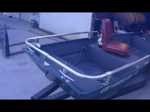 Jon Boat Mods Part 1 Diy Side Grab Rails From A