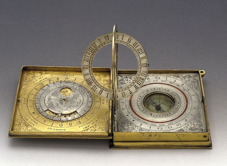 Beautifully Engraved and Gilded All-in-One Astronomical Tool - My Modern Metropolis