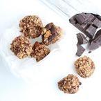 Chocolate chip bonkies van banaan, havermout, kaneel, walnoten en niet te vergeten, pure chocolade.