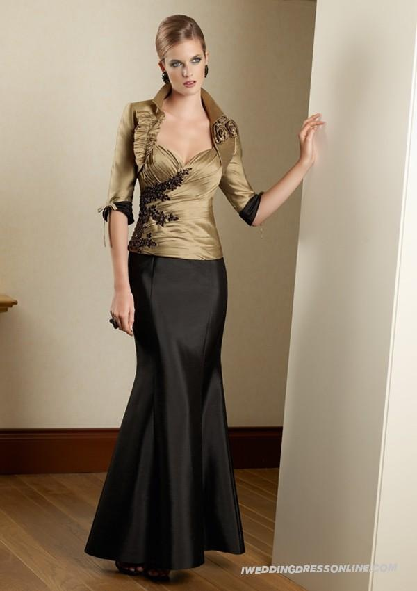 Taffeta Strapless Sweetheart Ruched Bodice Ankle-Length Occasions Dress
