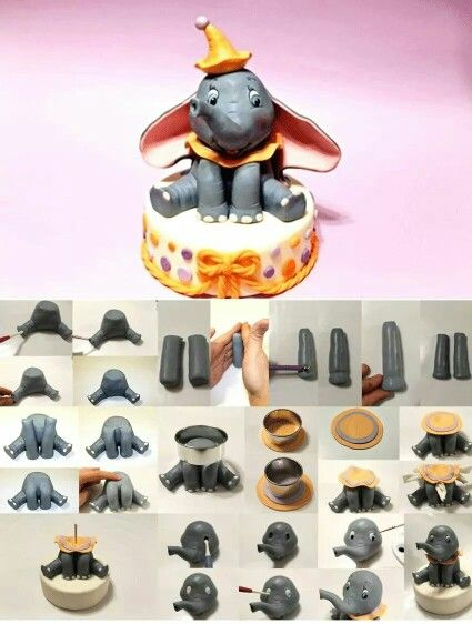 how to make gumpaste elephant