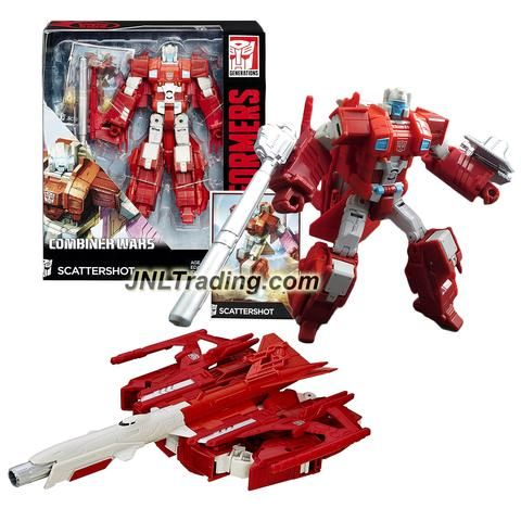 """Hasbro Year 2015 Transformers Generations Combiner Wars Voyager Class 7"""" Tall Figure - SCATTERSHOT with Blaster, Shield & Collector Card(Vehicle:Jet)"""