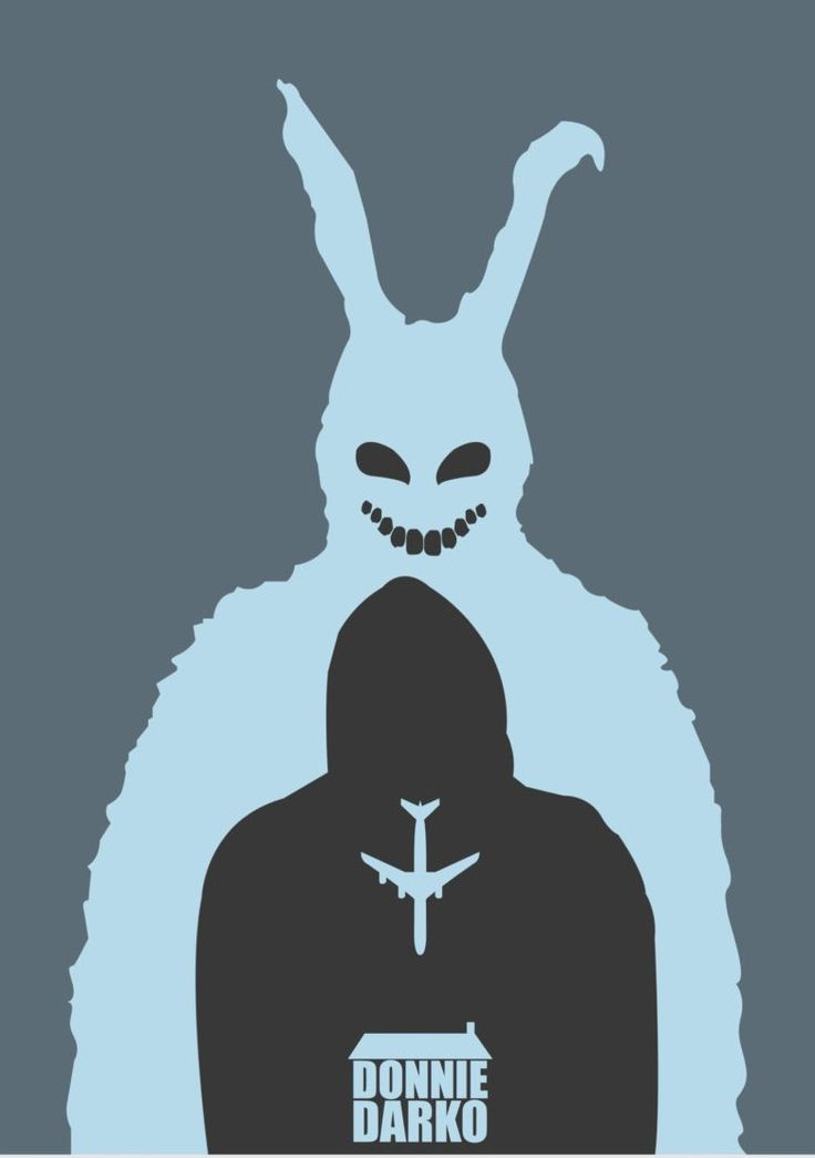 Donnie Darko (2001) ~ Minimal Movie Poster by David Peacock #amusementphile