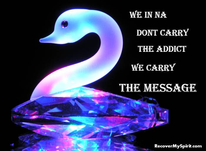 Sharing and carrying the message of hope. Some good healthy recovery quotes to heal the spirit. My newest creation please share