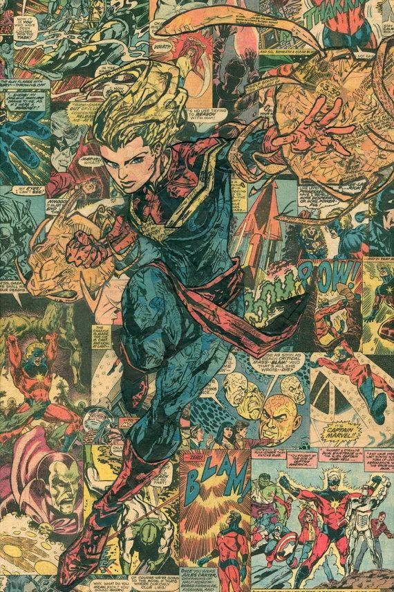 Carol Danvers Captain Marvel Giclee Print por ComicReliefOriginals