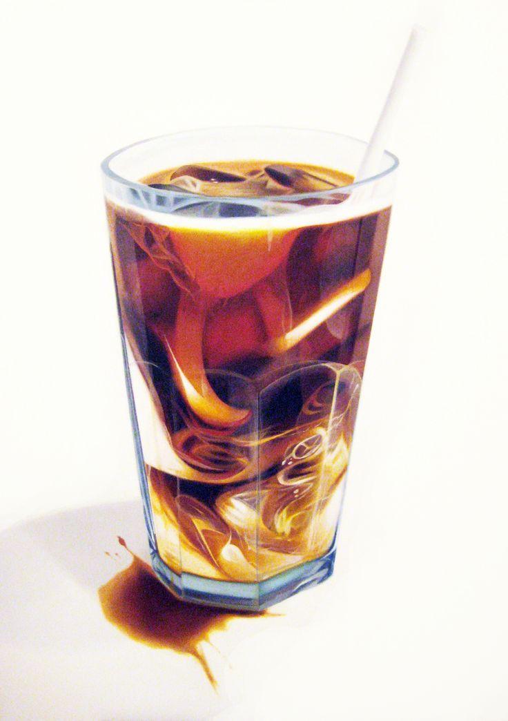 "ERIN ROTHSTEIN, The Tasting Room - ""Iced Coffee"", 2016, Acrylic on canvas, 48 x 36 inches, 122 x 91 cm"