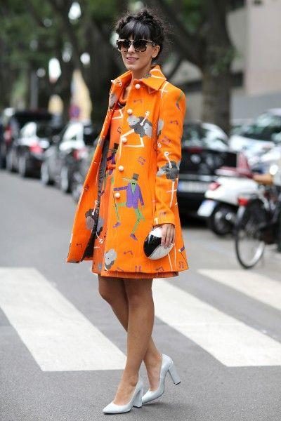 Prints in street style at Milan Fashion Week Spring 2015