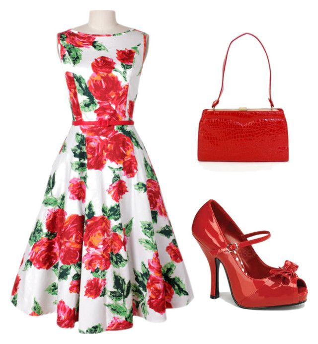 """""""Rockabilly flowers"""" by crystal-pickering ❤ liked on Polyvore"""