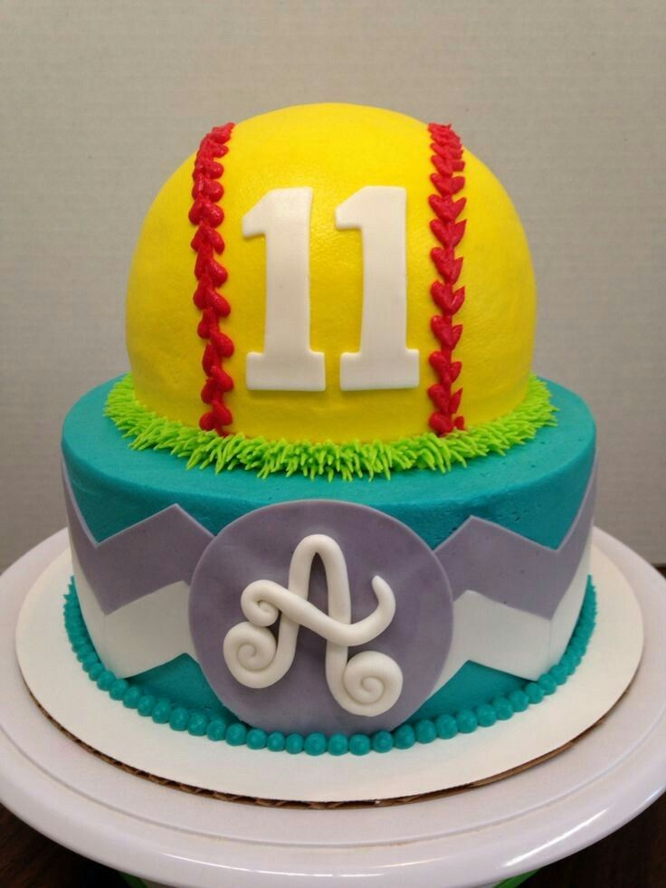 Mmmm this looks delicious and it just so happens to be a softball. So cool!