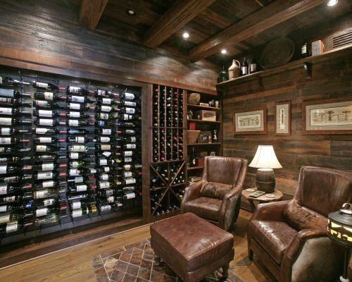Wild Turkey Lodge Wine Cellar - eclectic - wine cellar - atlanta - Modern Rustic Homes