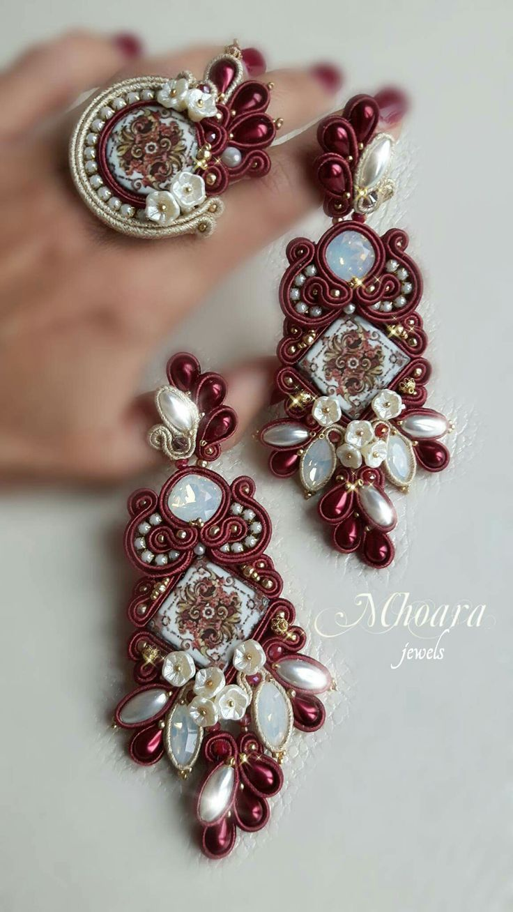 ' Victorian Style ' set soutache designed by Mhoara Jewels