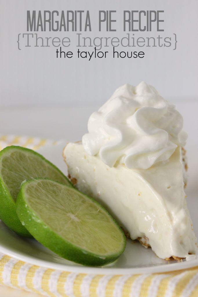 Delicious Three Ingredient Margarita Pie for Cinco De Mayo!