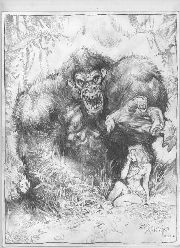 King Kong Ape Porn - King Kong 1933, Comic Illustrations, Monsters, The Beast