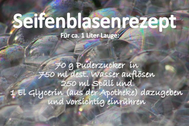 Spielwiese: Seifenblasen