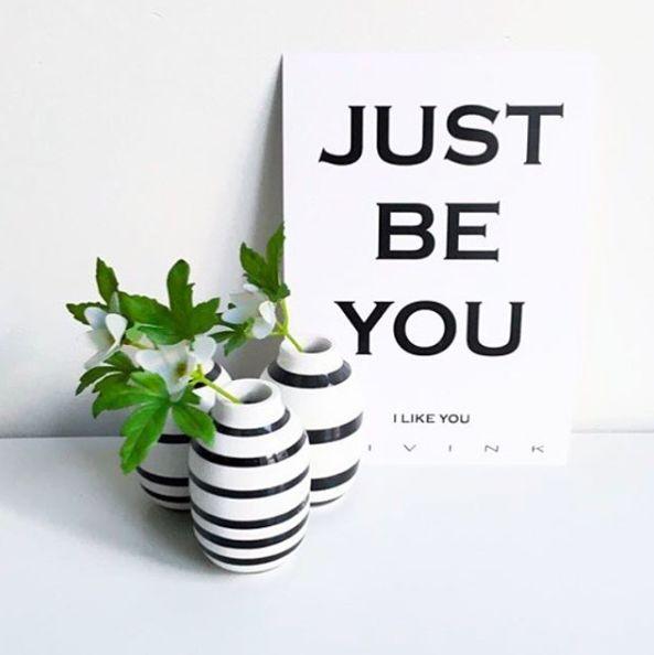 Simpelt og dejligt budskab! #JUST #BE #YOU poster from #Livink