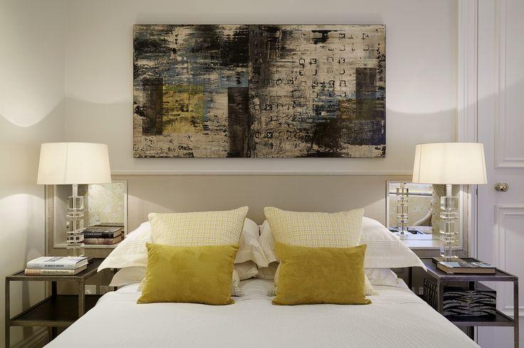 Bedroom designed by Talia Cobbold Cadogan Court Development