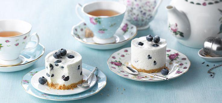 Earl Grey Cheesecake met Blauwe Bessen - lactosevrij