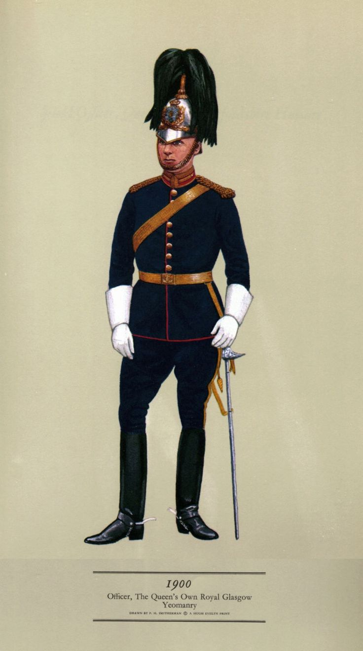 British; Queens Own Royal Glasgow Yeomanry, Officer, 1900