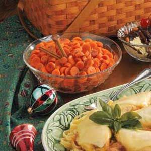"""Cinnamon Carrots Recipe -Frozen vegetables make for a fast and fabulous side dish in Charlene's <B>Cinnamon Carrots</B>. """"When Anna was a little girl, the only vegetable she would eat was carrots covered in a packaged glaze,"""" she recalls. """"I ran out of glaze one day and created this taste-tempting recipe. I never bought a prepared glaze again."""""""