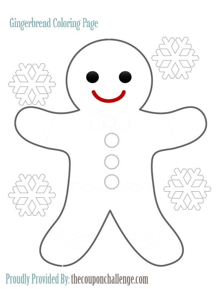The 25 best Gingerbread man coloring