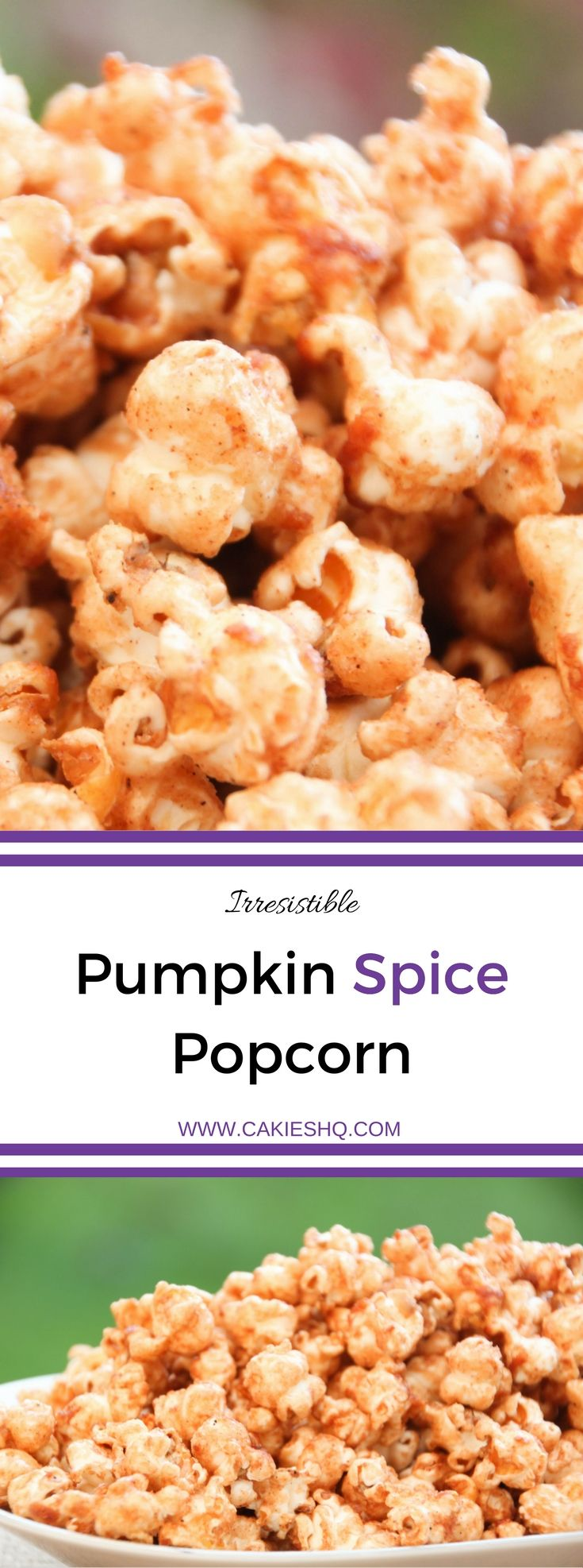 Pumpkin Spice Popcorn (Speculaas Popcorn) is the perfect snack for the fall and winter. This recipe is super delicious and easy to make. An irresistible pumpkin spice / speculaas spice snack.