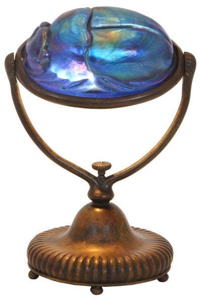 Tiffany Studios Scarab Desk Lamp.