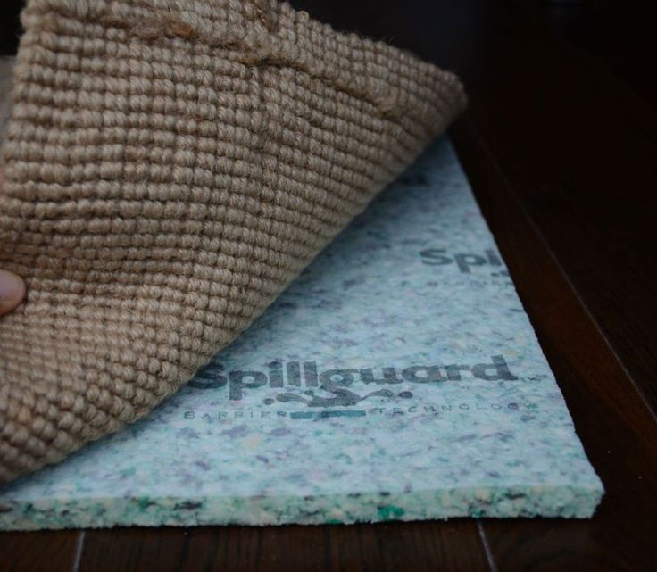 Spillguard Is A Thick Rectangle Rug And Carpet Pad That Prevents Moisture Damage Protects Floor Adds Comfort Made In The Usa Of