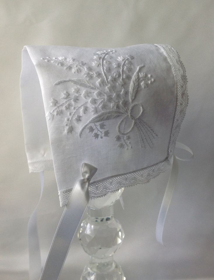 Baby BonnetHeirloom baby bonnet Lily of the by myheavenlydesigns