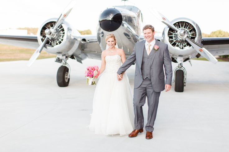 A Modern Airport Wedding at Zaxby's Hangar in Winder, Georgia