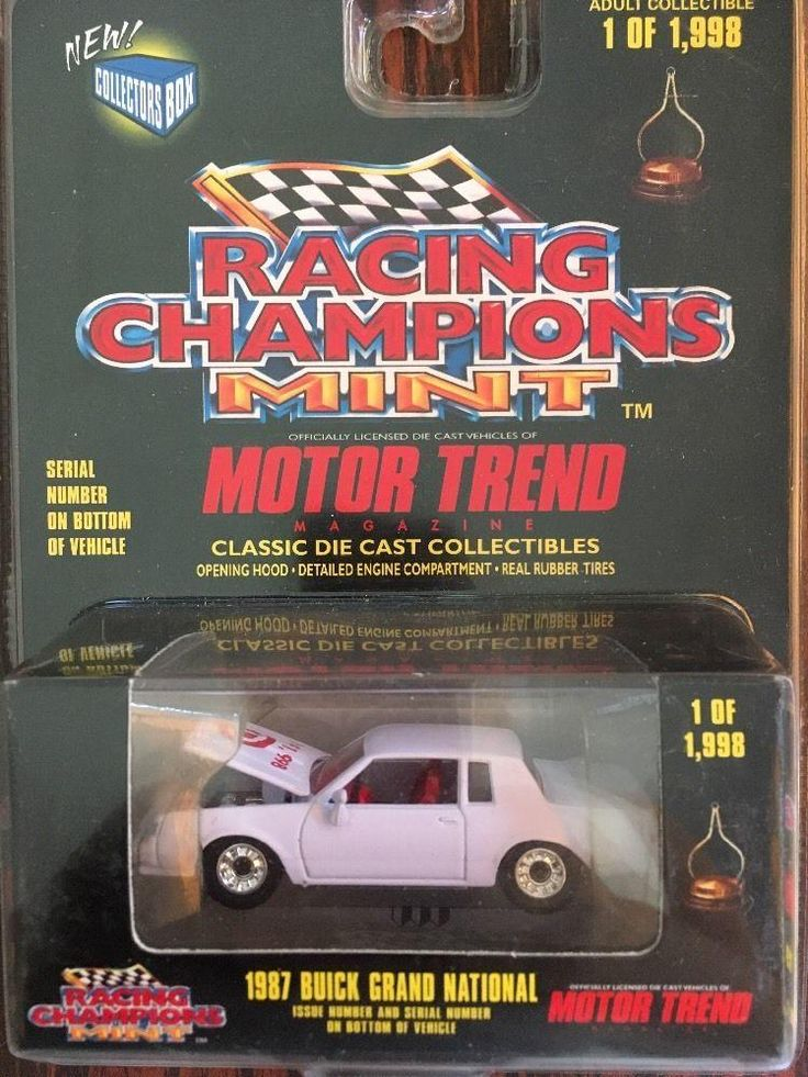 Racing Champions Mint Target 1987 Buick Grand National 1/64 DieCast Motor Trend