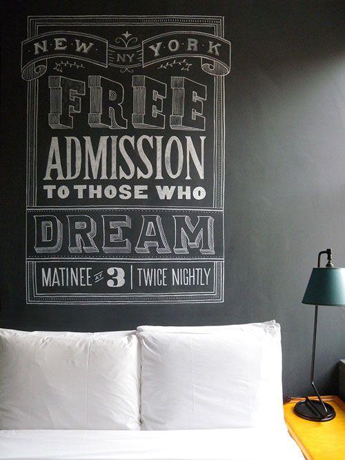 blackboard.: Wall Art, Chalk Letters, Chalkboards Art, Chalk Boards, New York, Ace Hotel, Chalkboards Wall, Chalk Art, My Tanamachi
