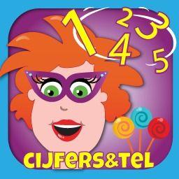 Nieuwe educatieve reken app in de AppStore (ook in Google Play): cijfers en getallen leren en tellen - Juf Jannie