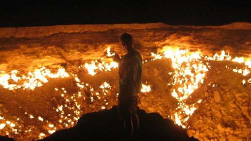 Turkmenistan. Visit the 'door to hell' in Turkmenistan. #destinations2017 #travel #explore #turkmenistan #kilroy