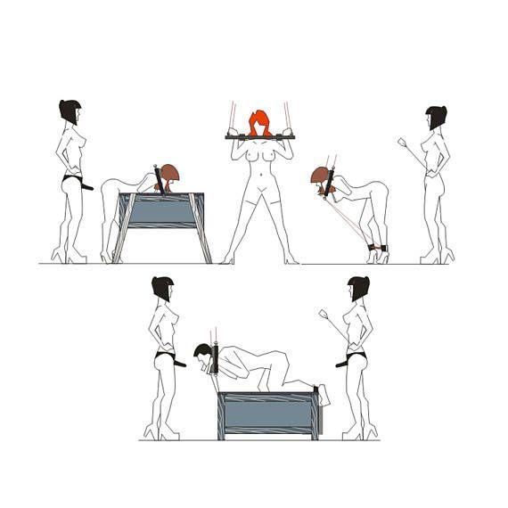 Muebles de BDSM-cuello y puños de la mano. BDSM de la mano y cuello puños es 39,3(100 cm) de largo, 9,4 (24 cm) de alto y ancho de 1.18(3 cm). El diámetro de los agujeros para las manos 2.6(6, 5cm). El diámetro de los agujeros para el cuello 5.5(14cm). El peso del dispositivo 3, 85kg. Anillos metálicos extraíbles le permiten montar el dispositivo en posición horizontal en el techo. Puños de mano de BDSM de madera laminada natural. Color kona. Madera tratada con mancha y barnizado mate. Si...