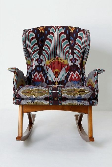 Boho rocking chair bohemian furniture furniture for Funky armchairs