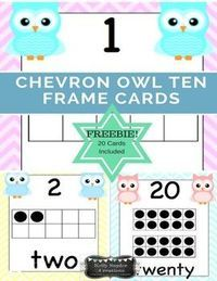 Brighten your room with these chevron owl ten frame number cards. This is part of my larger Chevron Owls Classroom Decor Growing Bundle. Here is the code: Chevron Owls Classroom Dcor - GROWING BUNDLE (scheduled via http://www.tailwindapp.com?utm_source=p