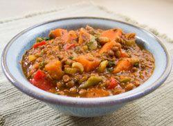Slowcooker Lentil Sweet Potato Stew
