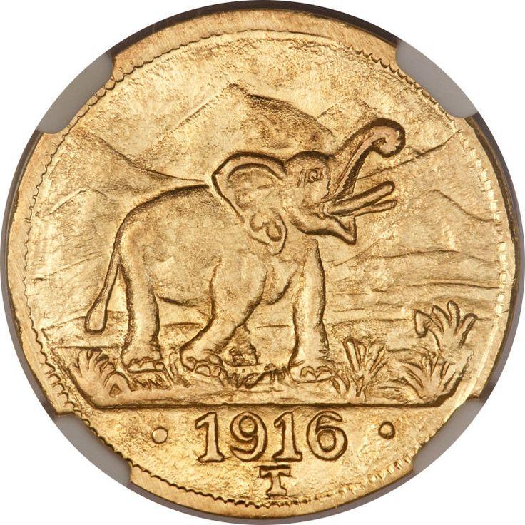 German East Africa, German East Africa: German Colony gold 15 Rupien 1916-T MS64NGC,...