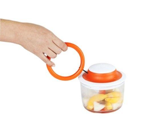 Boon Mush Manual Baby Food Processor, Tangerine