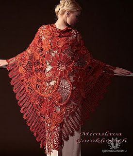 russian crochet shawl - amazing