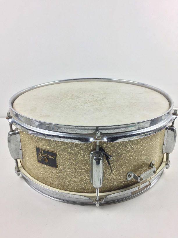 RARE Vintage Pearl-Made 'Audition' Gold Sparkle Snare Drum JAPAN