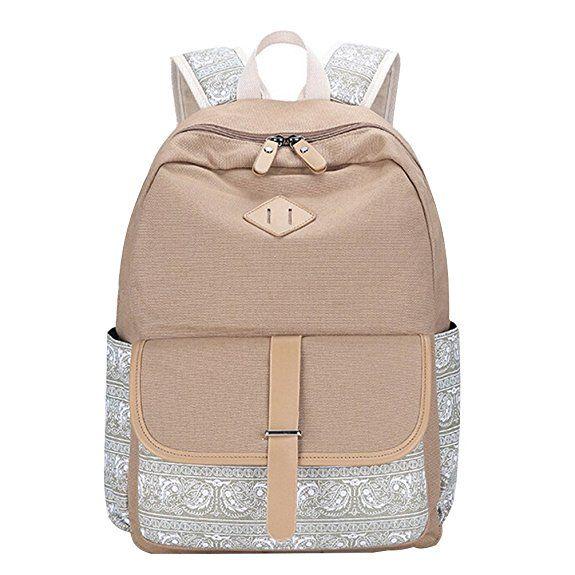 MingTai Schulrucksack Vintage Canvas Rucksack Schultasche Damen Kinderrucksack Schultaschen Daypacks Coole Rucksäcke Gestreift Schulranzen Mädchen