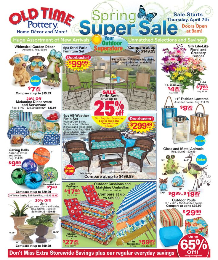 Old Sale  >> Browse the Current Sale Flyer - Save Up To 65% at Old Time ...