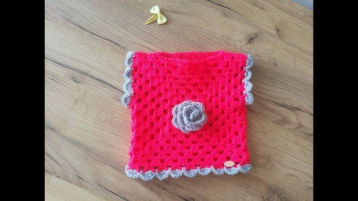 No 197 #Sweterek na szydełku z kwadratu babuni dla dziecka 10k - crochet...