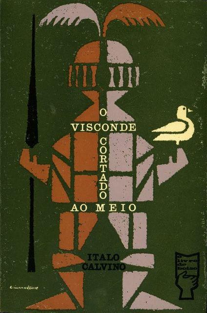 """Edizioe portoghese di """"Il visconte dimezzato"""" (1961), la copertina è di João da Câmara Leme"""