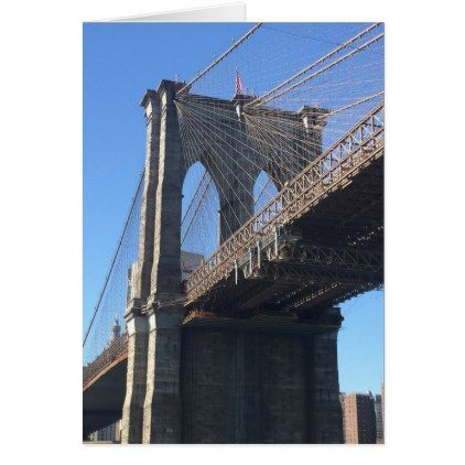 Brooklyn Bridge Sky New York City NYC Photography Card - photography picture cyo special diy