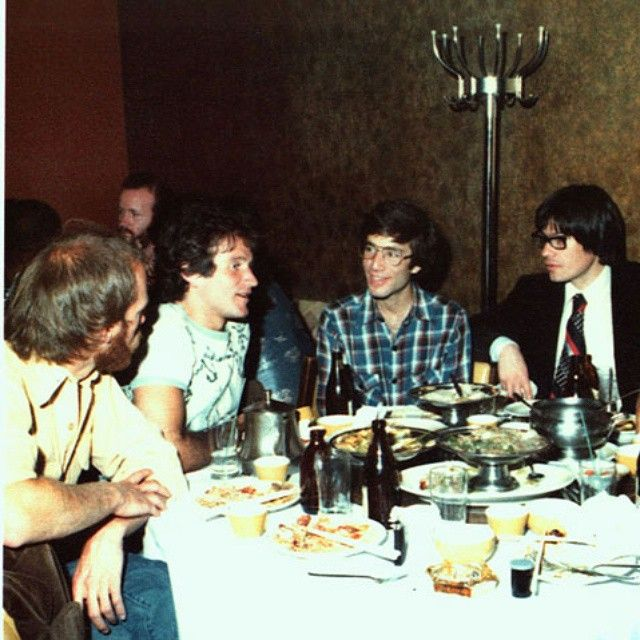"""""""Robin Williams bachelor party 1978 for his marriage to first wife Valerie Velardi. #RobinWilliams #Bachelorparty #1978"""""""